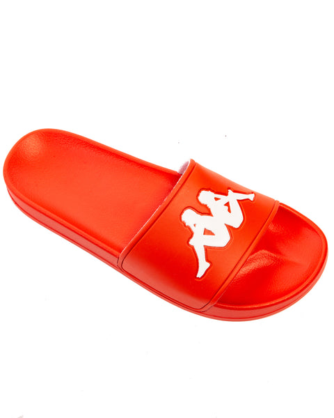 Authentic Adam 2 Red Orange White Slides
