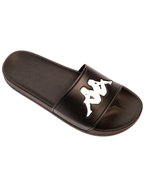 Authentic Adam 2 Black White Slides