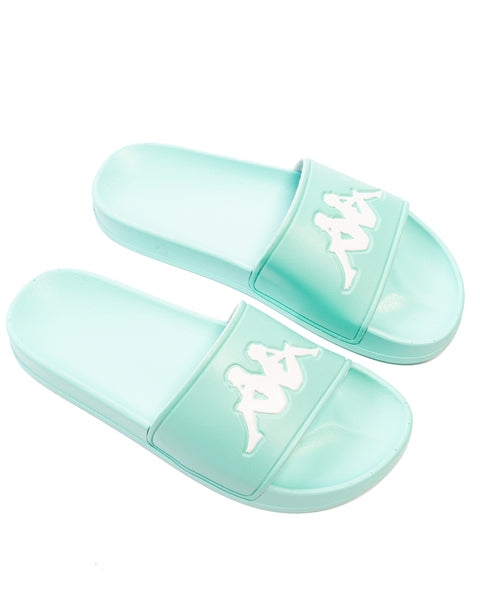 Authentic Adam 2 Azure Turquoise White Slides