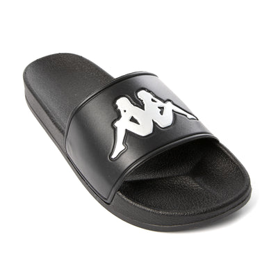 Authentic Adam 2 Slides - Black Silver