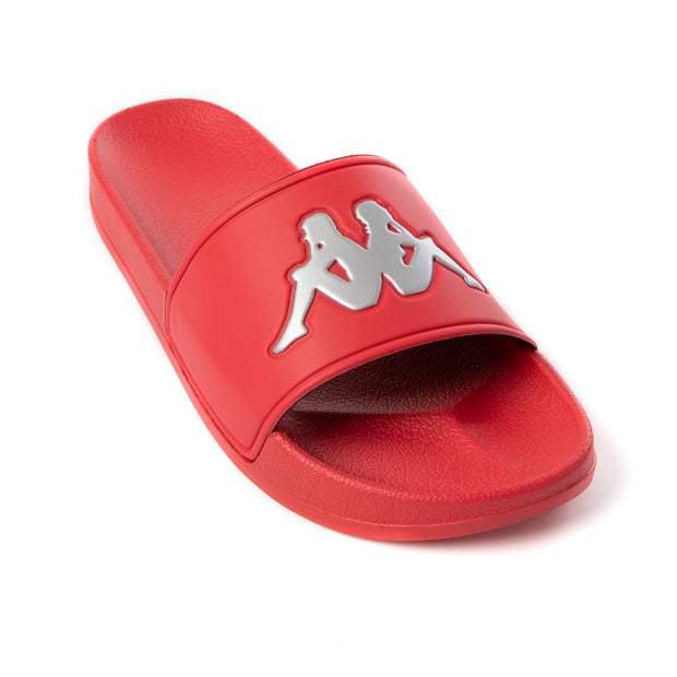 Authentic Adam 2 Slides - Red Lollipop Silver