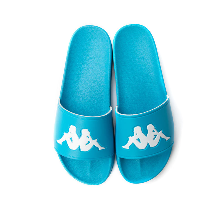 Authentic Adam 2 Slides - Blue Turkis White