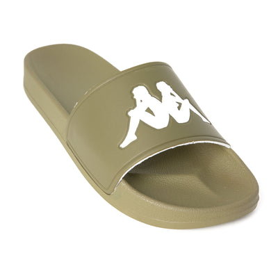 Authentic Adam 2 Slides - Green Olive White