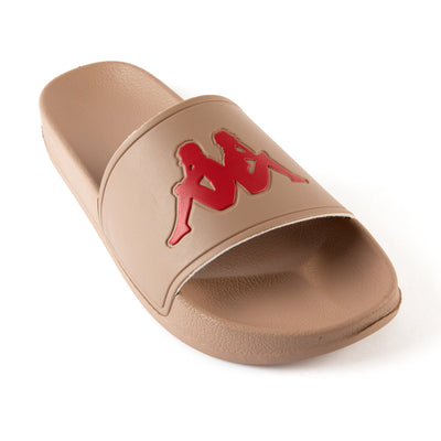 Authentic Adam 2 Slides - Brown Red