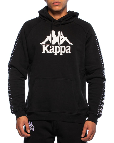 Kappa Mens Authentic Hurta Black Hoodie - Front