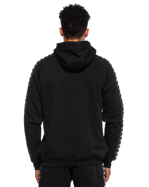 Kappa Mens Authentic Hurta Black Hoodie - Back
