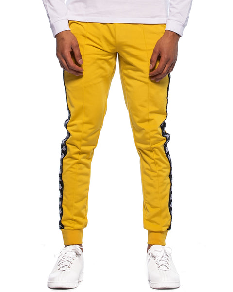 222 Banda Rastoria Slim Yellow Mustard Black Track Pants