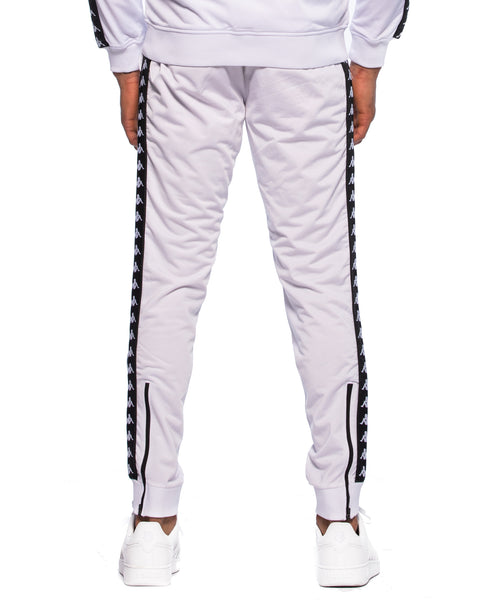 222 Banda Rastoria Slim White Black Track Pants
