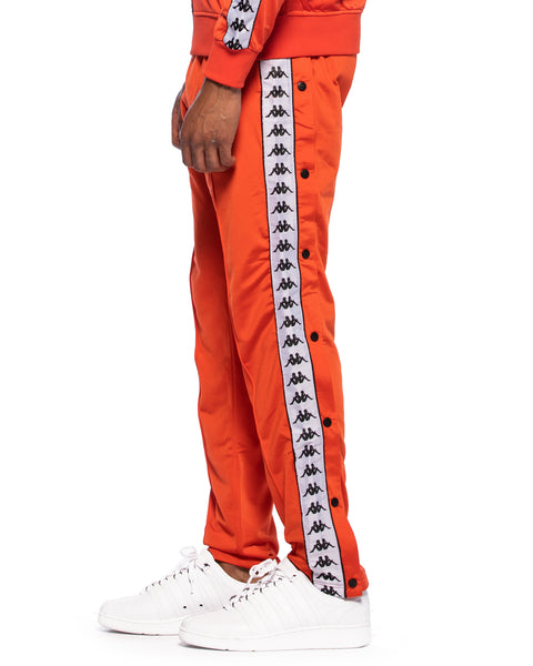 222 Banda Astoria Snaps Slim Red Orange Black Track Pants
