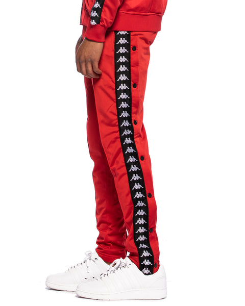 222 Banda Astoria Snaps Slim Red Black White Track Pants