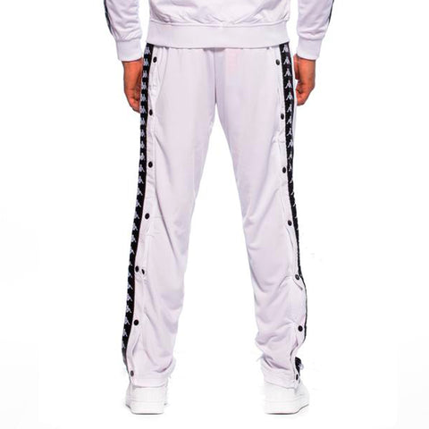 222 Banda Astoria Snaps Slim White Black Track Pants