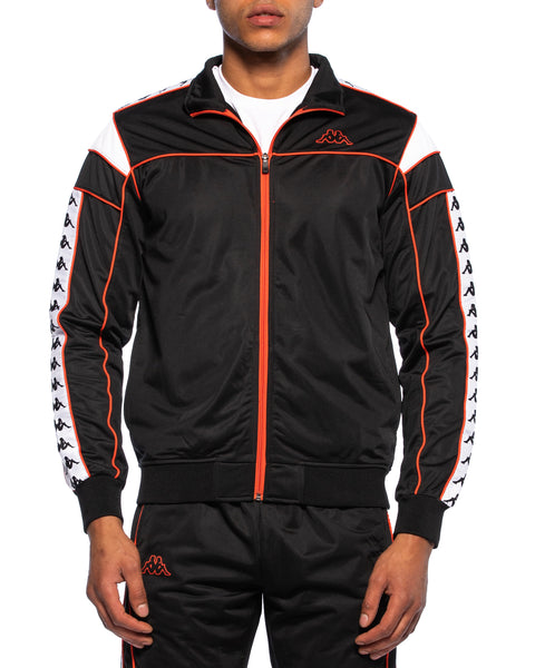 222 Banda Merez Black Red Orange Slim Jacket