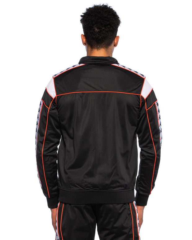 Kappa 222 Banda Merez Black Red Orange Slim Jacket