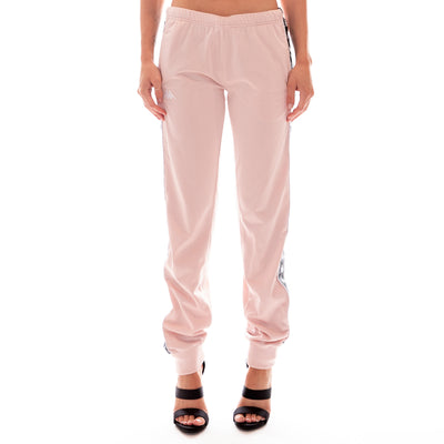 222 Banda Wrastoria Slim Trackpants - Pink Black