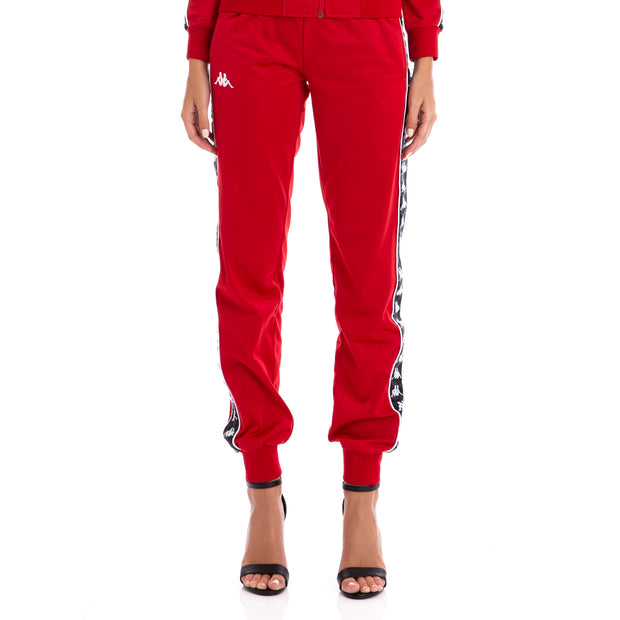222 Banda Wrastoria Slim Trackpants Red Black