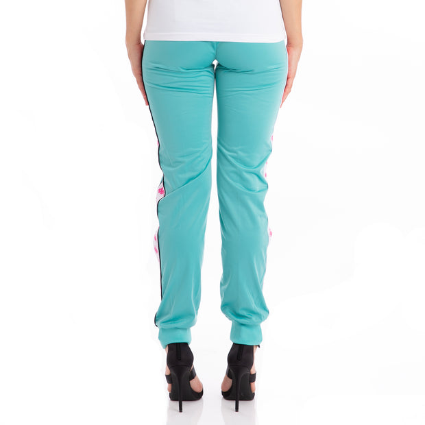 222 Banda Wrastoria Slim Trackpants - Green Lt White