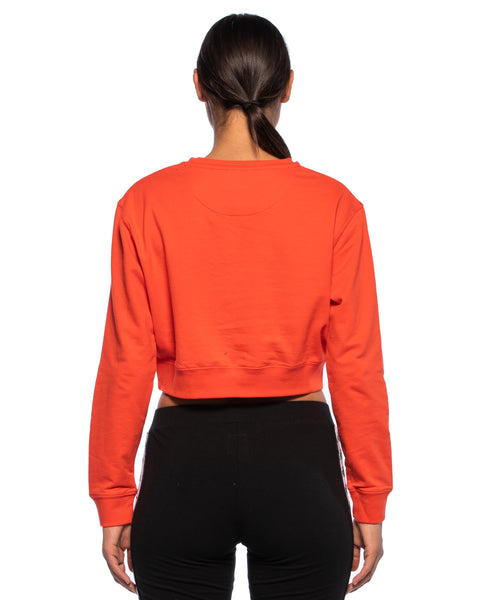 Kappa Womens Authentic Bammbamm Red Orange Crew Sweater - Back