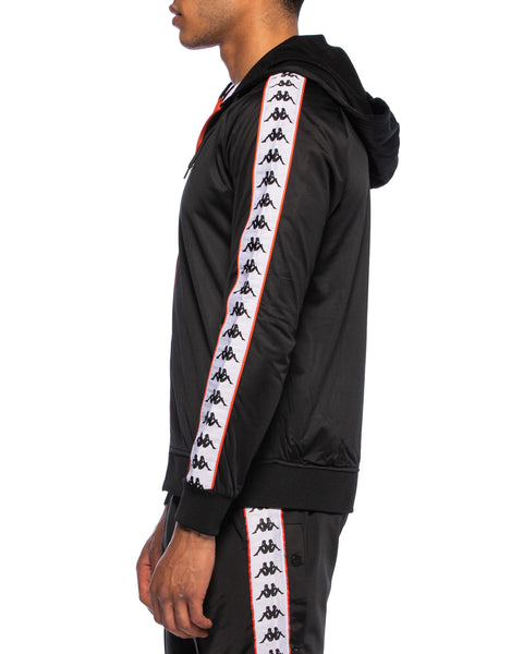 222 Banda Zudai Slim Black White Red Orange Hooded Jacket