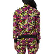 222 Banda Wanniston Slim Graphik Track Jacket- Leopard