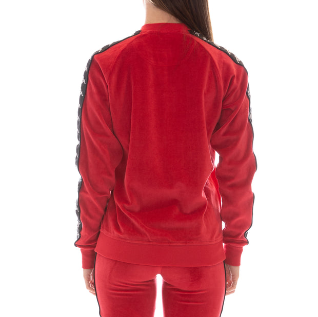 222 Banda Mivvie Velour Jacket - Red Black