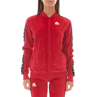222 Banda Mivvie Velour Jacket Red Black