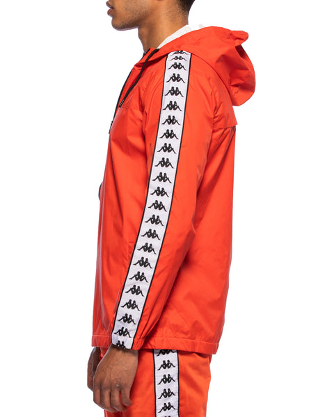 222 Banda Dawson Red Orange White Black Rain Jacket