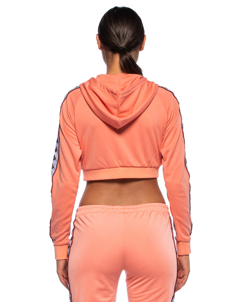 Kappa Womens 222 Banda Arakli Pink Crop Jacket - Back