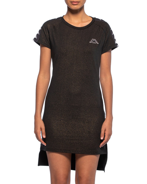 Kappa Womens 222 Banda Aurion Black Dress - Front