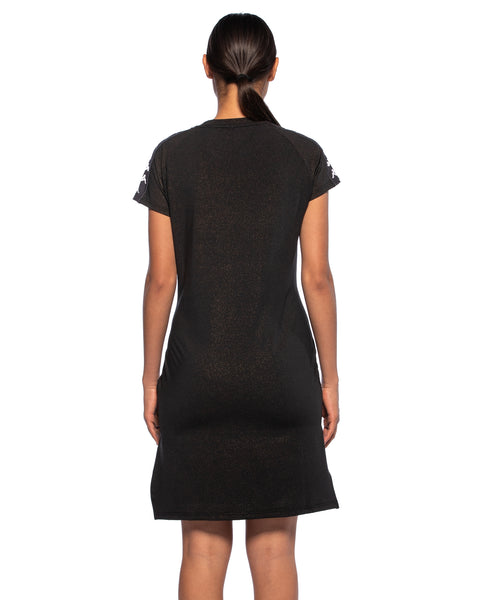 Kappa Womens 222 Banda Aurion Black Dress - Back