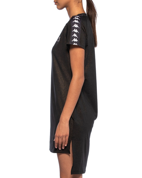 Kappa Womens 222 Banda Aurion Black Dress - Side 2