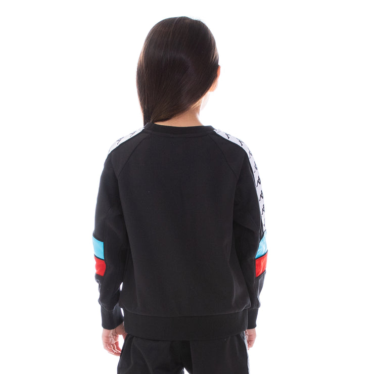 Kids 222 Banda Arlton Sweatshirt Black White Turq Red