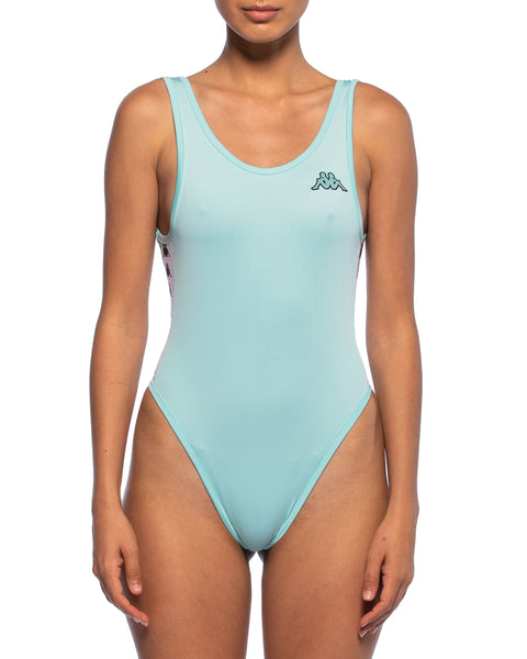 Kappa Womens 222 Banda Auber Turquoise Body Suit - Front