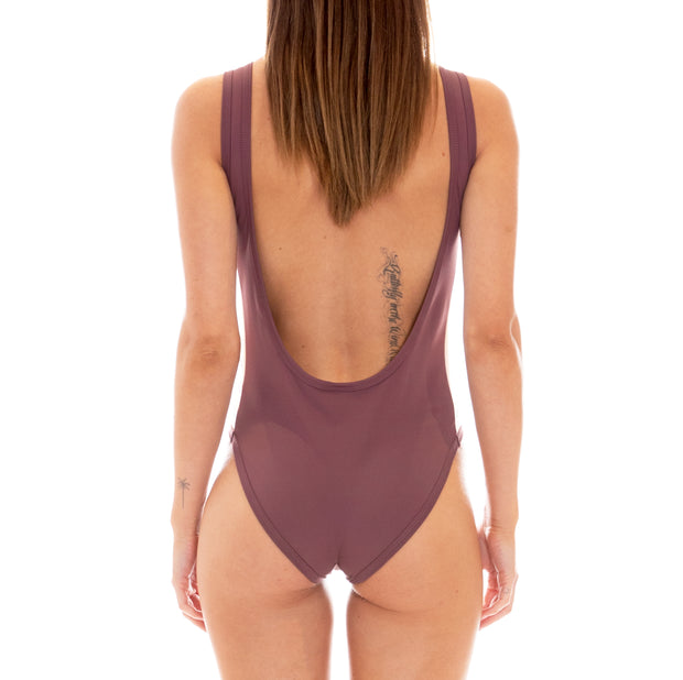 222 Banda Auber Bodysuit - Plum White Egg Black