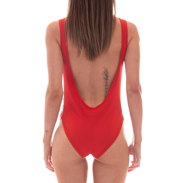 222 Banda Auber Bodysuit - Red Black