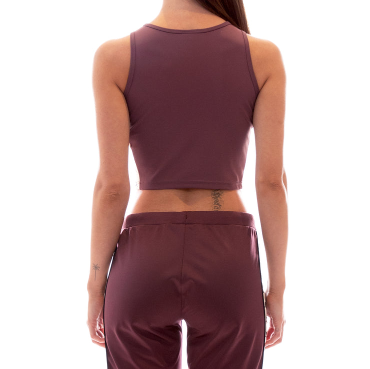 222 Banda Atvan Crop Tank - Plum White Egg Black
