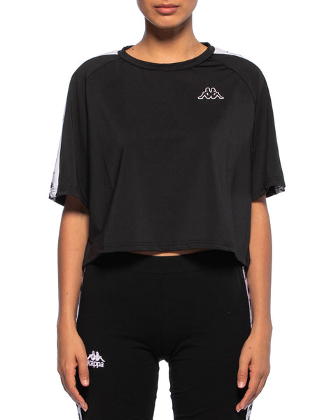 Kappa Womens 222 Banda Atum Black Top - Front