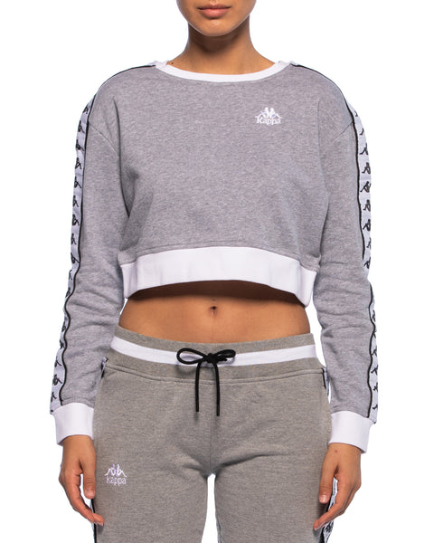 Kappa Womens Authentic Ays Grey Crew Sweater - Front