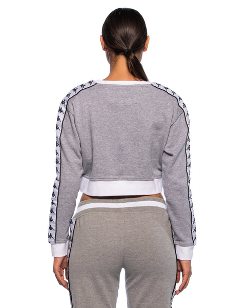Kappa Womens Authentic Ays Grey Crew Sweater - Back