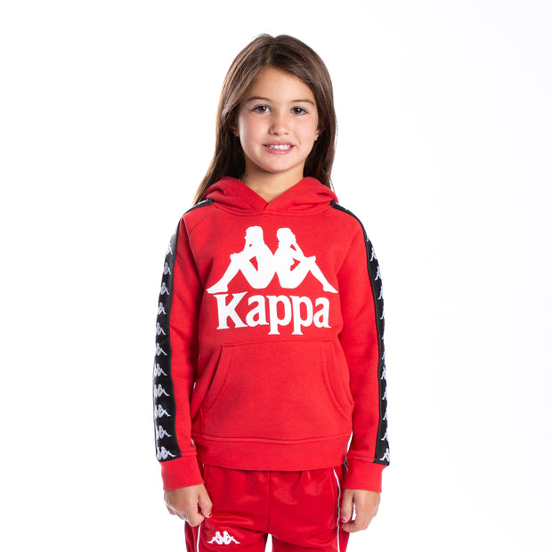 Kids 222 Banda Hurtado Hoodie - Red Black
