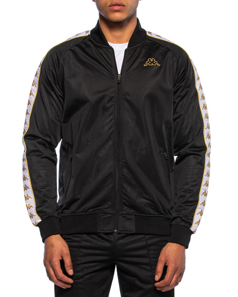 222 Banda Bomber Slim Black White Gold Jacket