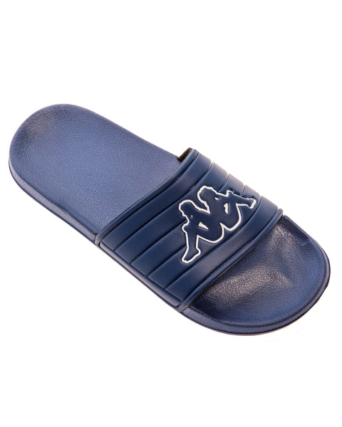 KAPPA Logo Matese Blue Depths White Slides - MAIN