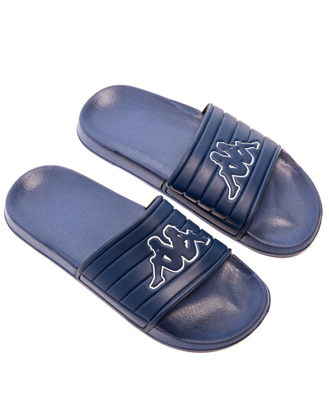 KAPPA Logo Matese Blue Depths White Slides - 2