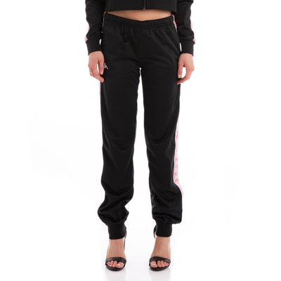 Kappa 222 Banda Wrastoria Slim Black Pink White Trackpants