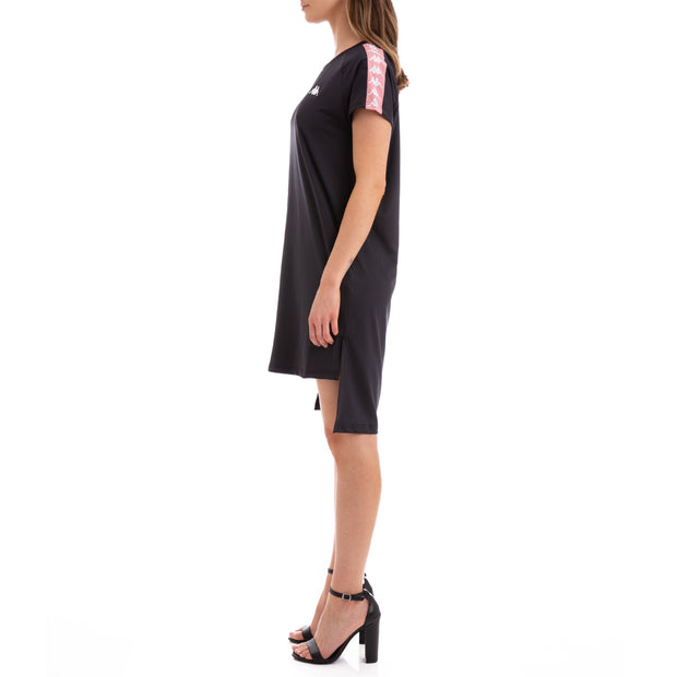 Kappa 222 Banda Aurion Black Pink White Dress