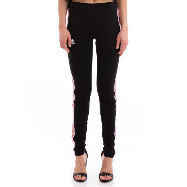 Kappa 222 Banda Anen Black Pink White Leggings