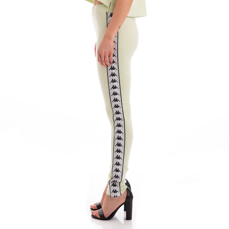 Kappa 222 Banda Anen Green Greysilver Black Leggings