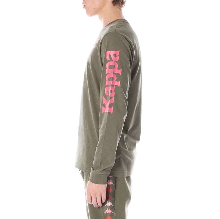 Authentic Ruiz Long Sleeve T-Shirt - Green Pink