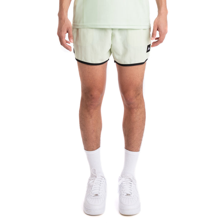 Kappa 222 Banda Agius Green Lt Grey Silver Black Swim Shorts