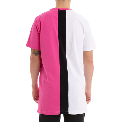 Kappa Authentic Baliq White Fuchsia Black T-Shirt