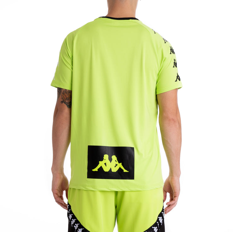 Kappa Authentic Bastil Green Lime Black White Jersey